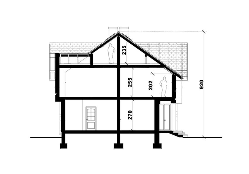 przekrój pionowy mieszkań